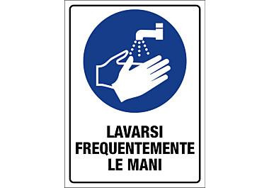 Adesivo lavarsi frequentemente le mani