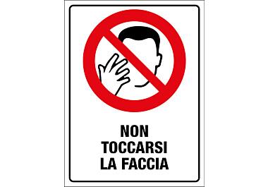 Adesivo non toccarsi la faccia
