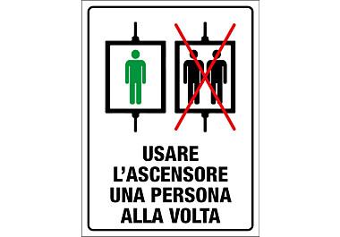 Adesivo regole ascensore