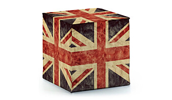 Pouf in SIMIL-PELLE British